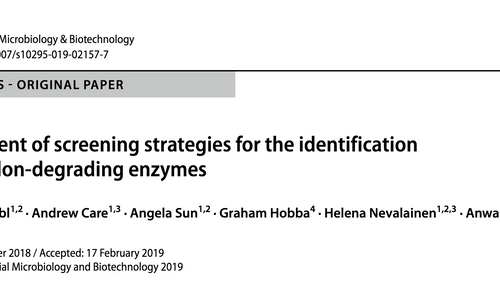 Newest article from Alex PhD thesis published in JIMB