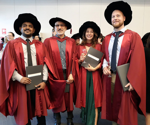 Kerstin, Alex and Vinoth graduation - Congratulations !