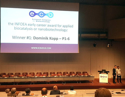 Dominik  wins first prize at the  European Congress on Biotechnology !