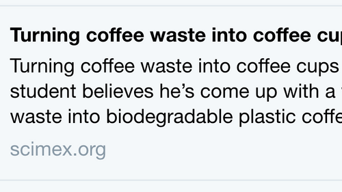 Dominik in the press. How to  convert coffee waste into a bio-based chemical