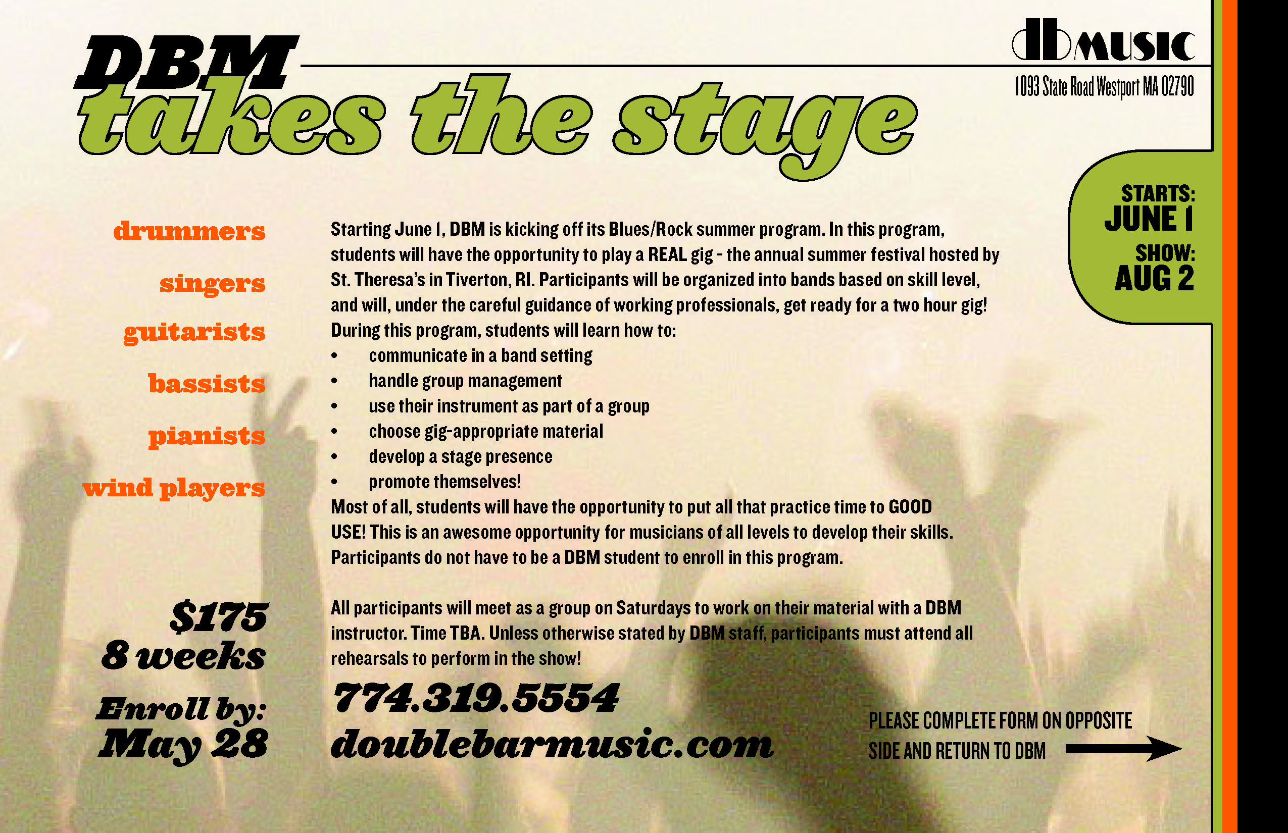 Take the Stage Summer Program