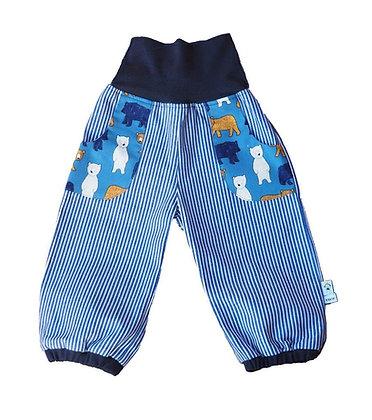 Jeans-Pumphose - Bären blau /Pants Bears blue