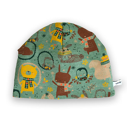 Wendbare Kindermütze Waldtiere / Reversible beanie  Forest Animals