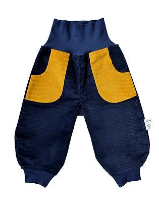 Bio Cord-Pumphose Genua gelb/ bio pants Genua yellow