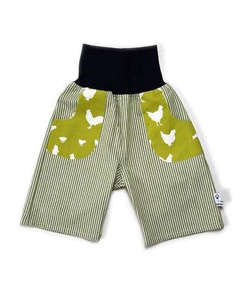 Jeans-Pumphose 3/4 - Hühner / Pants 3/4 Chicken