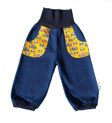 Jeans-Pumphose - VW-Bus Gelb/Pants VW-bus yellow