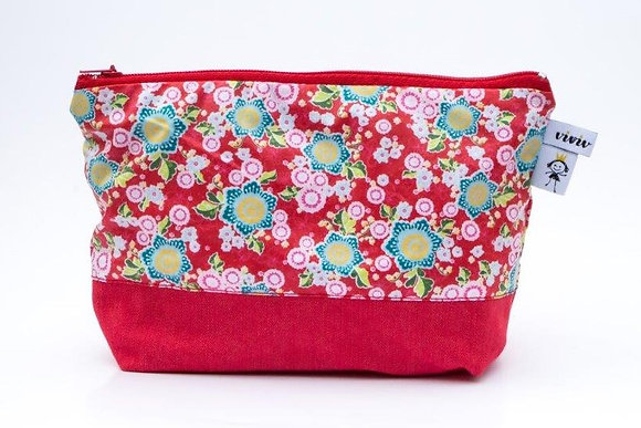 Kosmetiketui rot / cosmetic bag - red