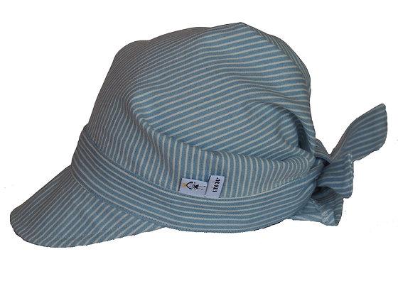 Sommerhütchen - himmelblau/weiss/ Summer hat - skyblue/white