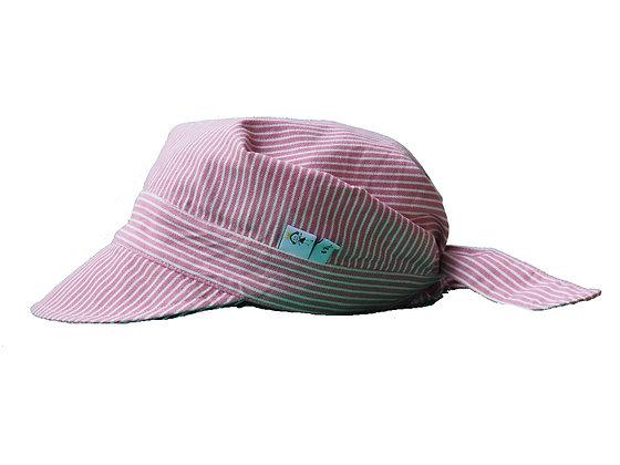 Sommerhütchen - rosa/weiss/ Summer hat - rose/white
