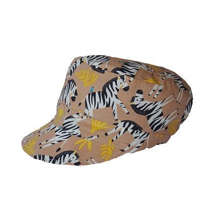 Wendbare Michelmütze Zebra / Summer cap Zebra