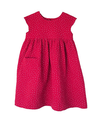 Sommerrock aus Musselinstoff - Himbeer/ double gauze dress - Raspberry