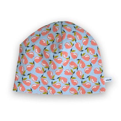 Wendbare Kindermütze Birnen / Reversible beanie Pears