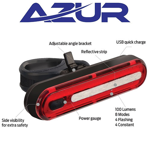 Azur Alien 2 100 Lumens Rear Light