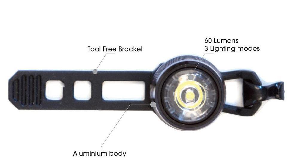 Azur USB Cyclops 60 Lumens Front Light