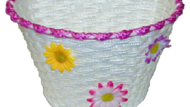 Kids Front Woven Basket With Flowers