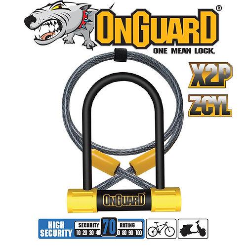 On Guard Bulldog Mini DT Keyed - Shackle 9cm x 14cm D 13mm Cable 120cm x 1