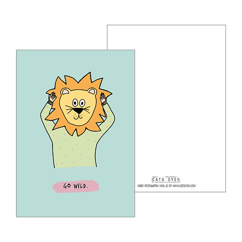 postkaart: Go wild.