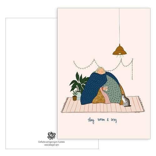 kaart: stay warm & cosy