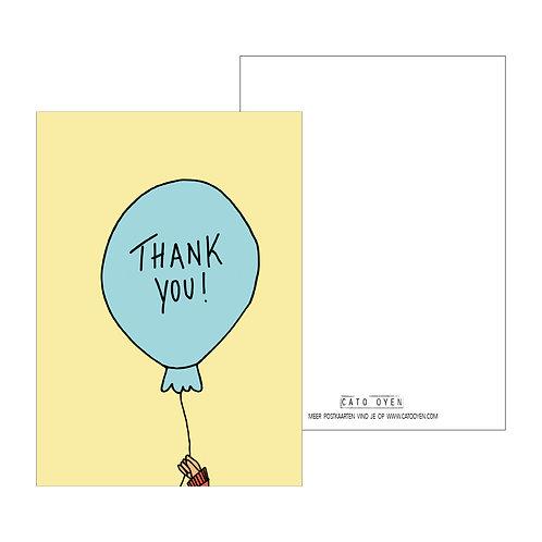 postkaart: Thank you !