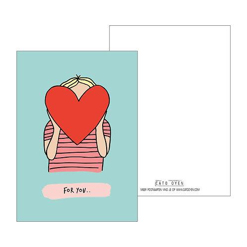 postkaart: For you...