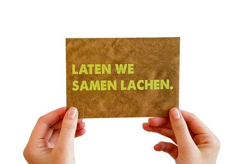 Postkaart : 'laten we samen lachen'