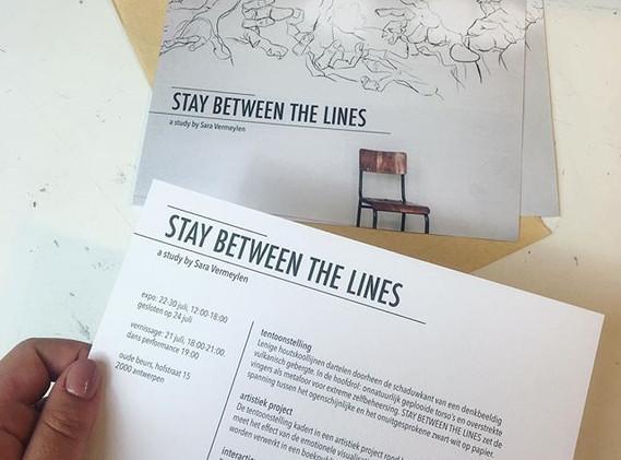 Flyer design voor _saravermeylen.be 🙌🏼