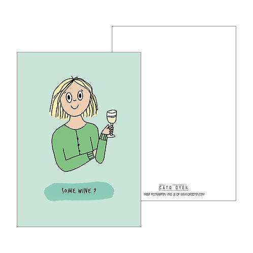 postkaart: Some wine?