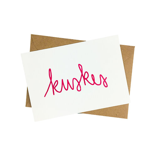 Kuskes - postkaart zeefdruk