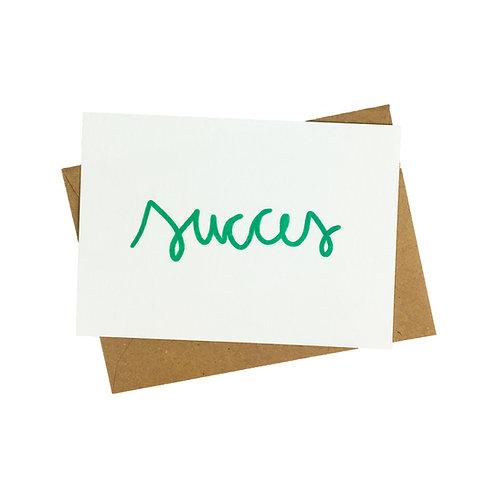 Succes - postkaart zeefdruk
