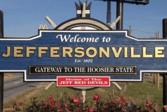 Welcome to Jeffersonville, Indiana Landmark