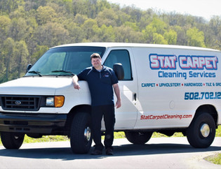 Stat Carpet Cleaning Van Providing Residential Home Carpet Cleaning Service