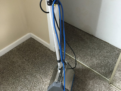 Carpet Cleaning with Counter Rotating Brush Tool