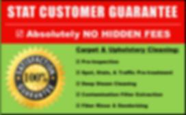 Stat Carpet Cleaning Customer Satisfaction Guarantee