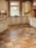 Clean Vinyl Floor in Kitchen