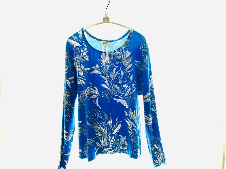Toile Royal Blue Top Size 1, 2