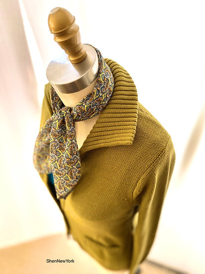 Textured Cardigan Olive S-1