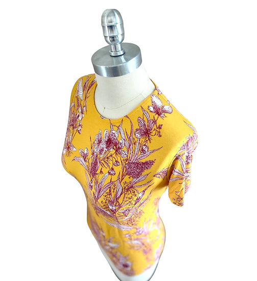Yellow Toile Print  S/S Jersey Top  2
