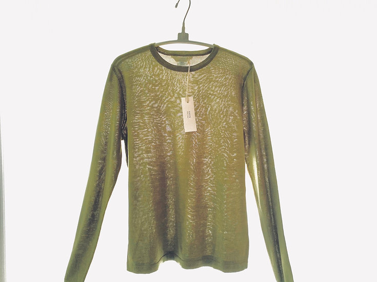 Silk/Cotton Crew Green 0, 1, 2, 3