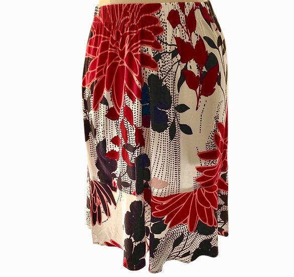 Red/Black Flower Skirt Size-1