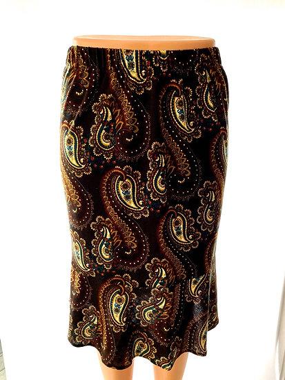 Black/Wine Paisley Skirt Size-1