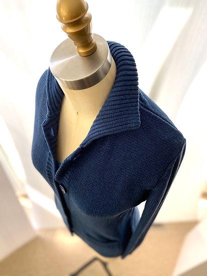 Textured Cardigan Denim 1, 2, 3