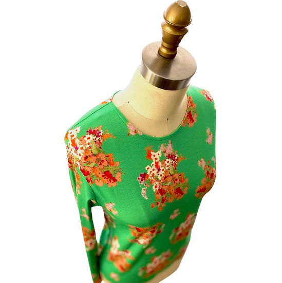 Jade Floral Print S/S Size-0