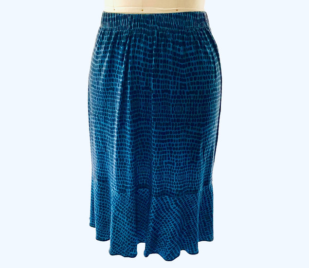 Blue Dotted Skirt Size-1