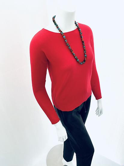 Supima Cotton Fine Knit Petite Fit Red