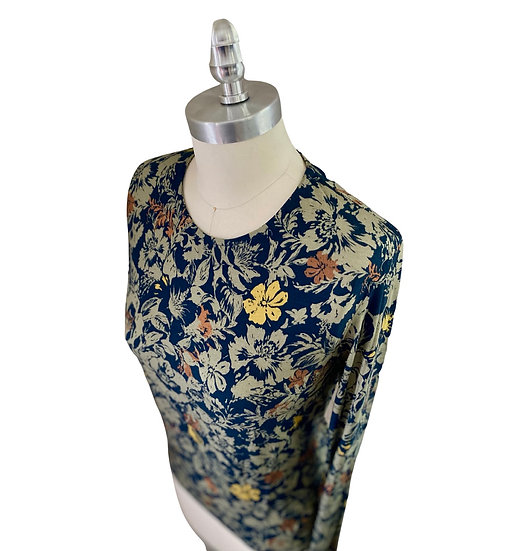 Green/Yellow Floral Jersey Top 3