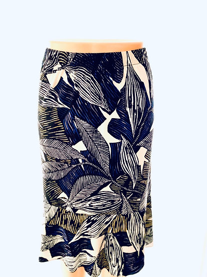 Navy/Gold leaf Skirt Size-3