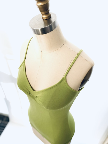 Low Front Center Shirring Original Cami Lime t.1 ( last one )