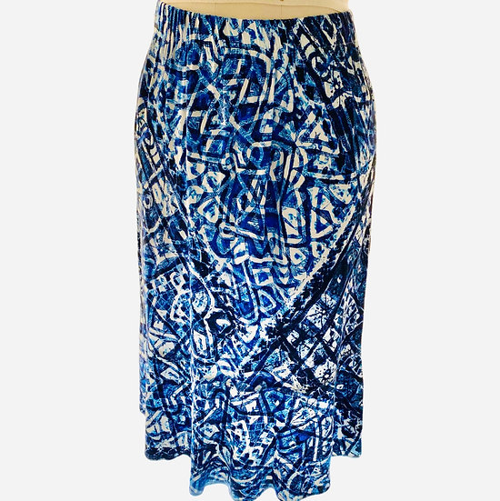 Blue tie dyed printed Skirt Size-1