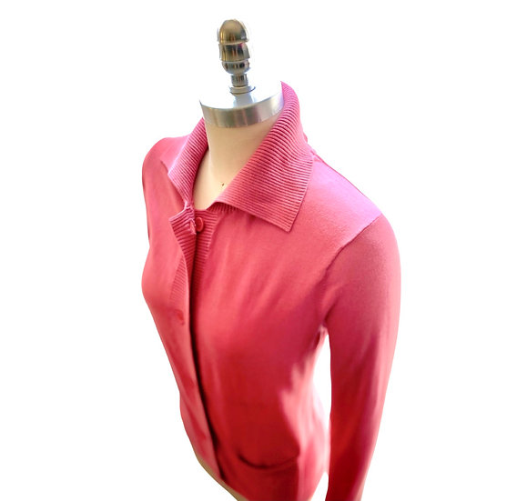 Light Weight Cotton Cardigan Rose Size-1