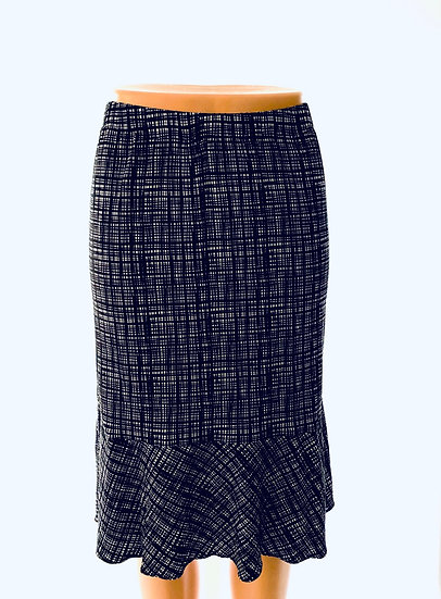 Black Plaid Skirt Size-1
